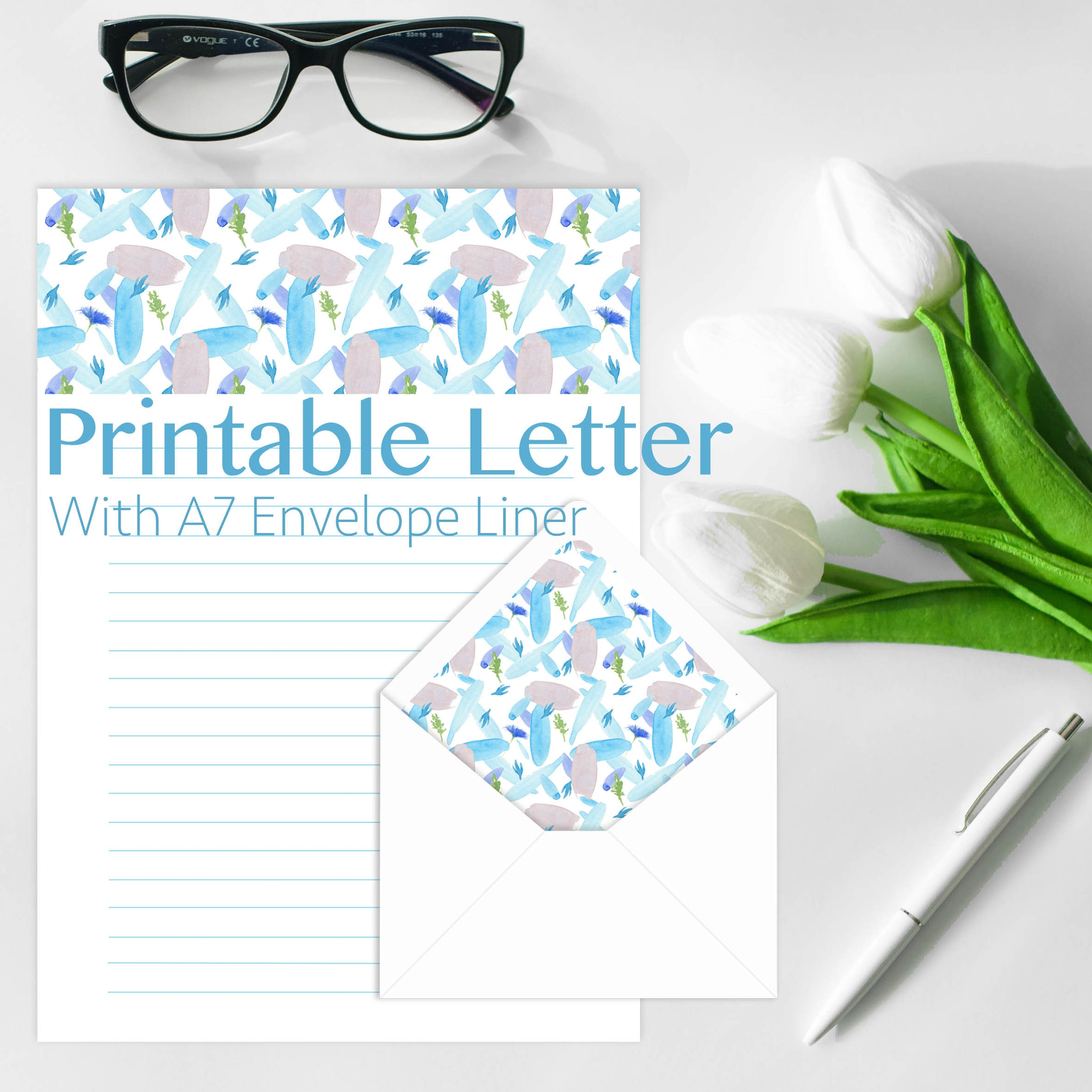 lined letter paper