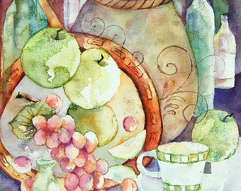 Favorite Things, Original watercolor painting