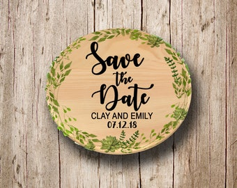 50 Wooden Save the Date Magnets for Amanda