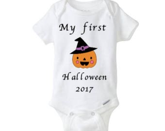 My First Halloween Baby bodysuit