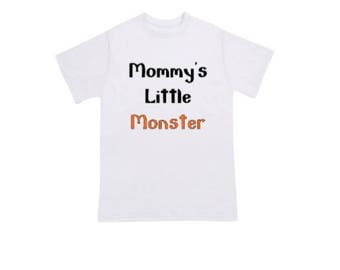 Mommy's Little Monster Halloween Toddler & Kids Shirt, Kids Clothing, Kids Halloween Clothing, Kids Halloween Shirts, Funny Halloween Shirts