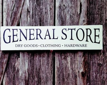 General Store wood sign, Vintage feel general store sign, Distressed general store sign, Farmhouse Style, Farmhouse Decor