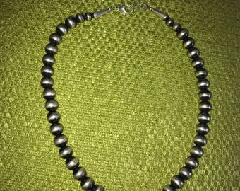 Navajo Pearls Sterling Silver Necklace