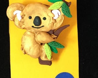 Golden Koala Bear Pin