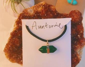 Green Aventurine Quartz necklace