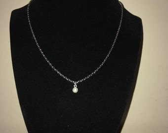 White Orb Necklace