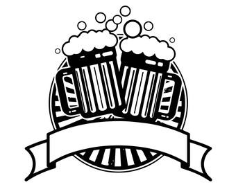 Beer mug vector | Etsy