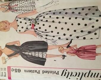 Simplicity Party Dress 1960's