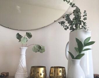 Minimal Tree Candle Holders// Vintage Gold Toned Tea Candle Holders// Holiday Decor//