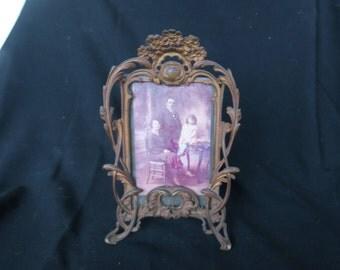 ancien cadre en régule fin 19 ème, former executive in late 19th regulation, pour exposer une belle photo de famille