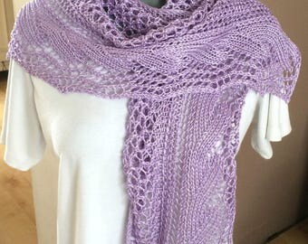 Openwork stitches - Hand knitted shawl hand knitted scarf, shawl