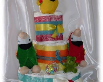 D I Y Diaper Penguins Instructions For Diaper Cake Topper