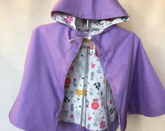 Cape T4 years reversible purple 100% cotton