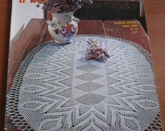 magazine crochet and knitting art - crochet and needle designs ( placemat, table placemat, curtain... )