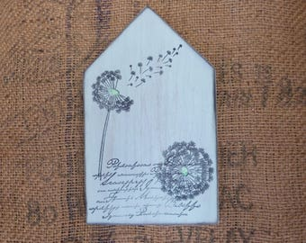 Wooden decorations dandelion House
