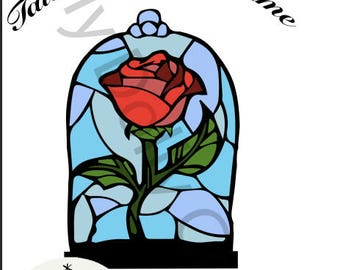Beauty and the Beast Enchanted Rose SVG