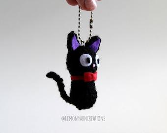 Jiji the Cat Inspired Crochet Amigurumi Plush Keychain