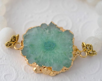 Healing Bracelet Chakra Bracelet Green Quartz Bracelet Yoga Bracelet Zen Bracelet Meditation Bracelet Reiki Bracelet Fertility Jewelry