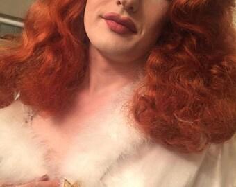 drag queen gold flower pin