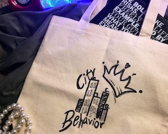 CityBehavior Canvas Tote Bag, Logo Design