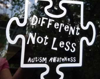 Puzzle Piece Decal - Autism Awareness - Different Not Less