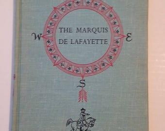 "Landmark Book Series #W34 ""The Marquis De LaFayette - Bright Sword Of Freedom"" by Hodding Carter"