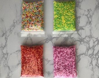 4 Colors Styrofoam Beads for Slime & Floam
