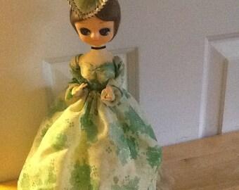 Vintage Bradley Big Eyed Victorian, Elegant Southern Bell Doll