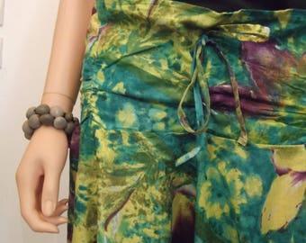 Harem pants 100% cotton, tropical print