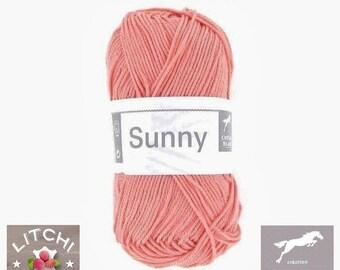Mercerized cotton white horse Sunny, 50g, shrimp pink Pincushion 186