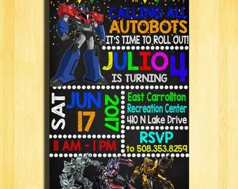 Transformers Invitation, Transformers Birthday Invitation, Transformers Birthday Party, Transformers Party Invitation, Transformers Birthday
