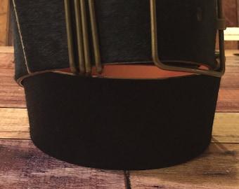 MIU MIU black mohair belt size 32