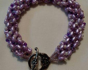 Handmade Beaded Spiral Bracelet