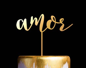 Amor Wedding Cake Topper, Wedding Anniversary Cake Topper