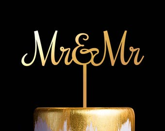 Mr and Mrs Cake Topper, Cake Topper for Wedding and Anniversary