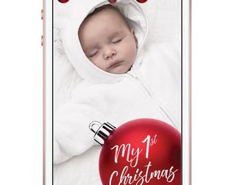 First Red Christmas Snapchat Filter, Christmas Snapchat Geofilter, Christmas Snapchat, Christmas Geofilter, Christmas Filter