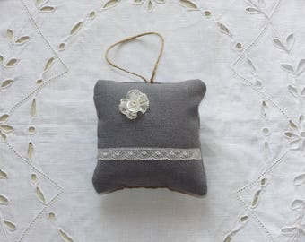 Pillow with lace to hang