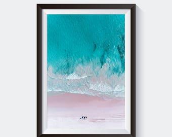 Beach Print - Wall Art Print, Aerial Photography, Ocean Art, Coastal, Digital Print, Beach Print, Beach Photography, tropical decor, decor
