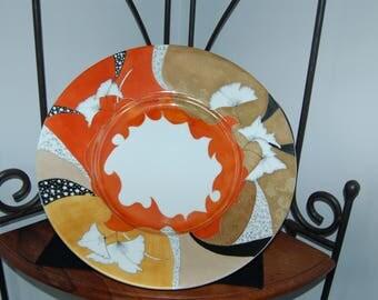 large Limoges porcelain dish