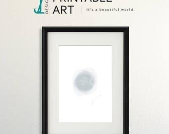 CaughtFishing Art Print, downloadable print, digital illustration, fish
