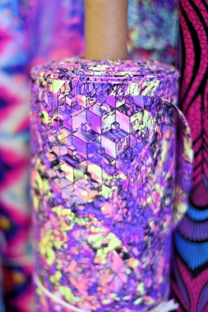 Multi Abstract - Spandex Fabric - Nylon Lycra