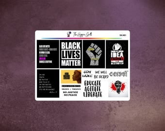Black Lives Matter Stickers - BLM Stickers - Decorative Stickers - Adult Stickers - Planner Stickers - ECLP - Recollections - MAMBI