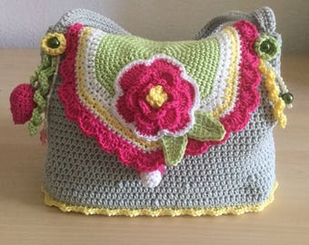 Style boho Crochet Bag purse