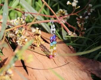 Handmade chakra colour earrings