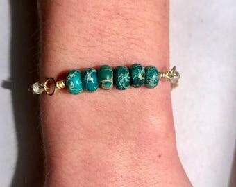 Teal Stone Bracelet