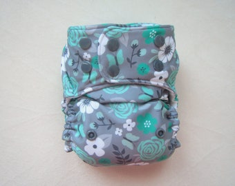 Mint Rose,Cloth Diapers, Pocket Diapers, Modern Girl, Baby Diaper, Cloth Nappy, Cloth Diaper pattern,Stay Dry Diaper, One size diapers,Girl
