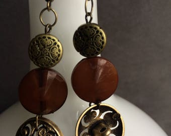 Brass beads and buttons