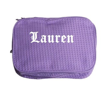 Customized Waffle Cosmetic Toiletry Bag  |Customized Cosmetic Bag | Personalized Makeup Bag | Makeup Case