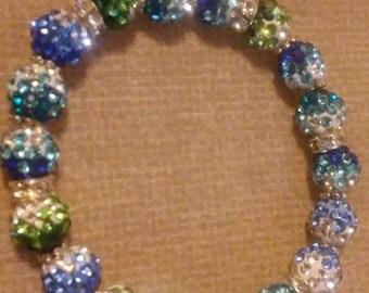 Rhinestone Beaded Bracelet