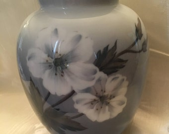 Royal Copenhagen Anemone Flower Vase with butterfly 2667 36